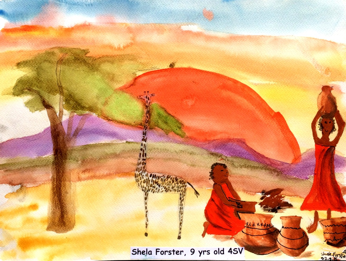 Shela Foster , 9, 'our home', Hillcrest Preparatory School, Nairobi